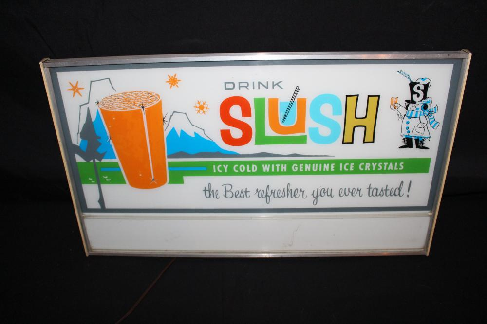DRINK SLUSH MOTION LIGHTED SIGN