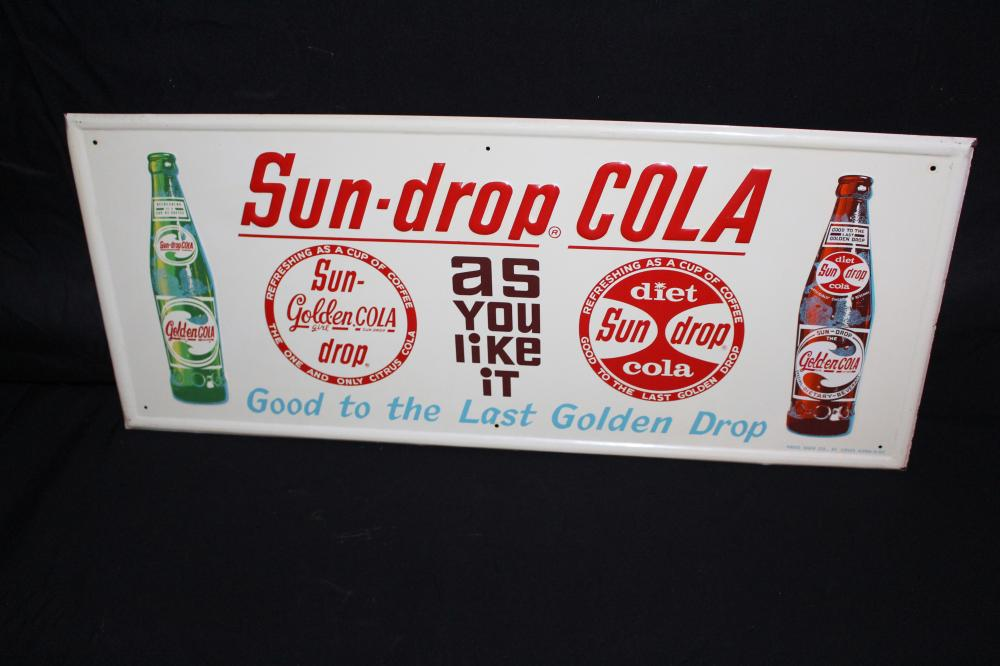 SUN DROP COLA SODA POP SIGN