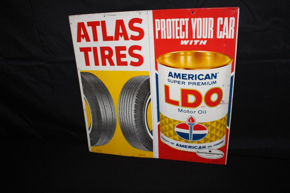 STANDARD OIL CO ATLAS TIRES SIGN