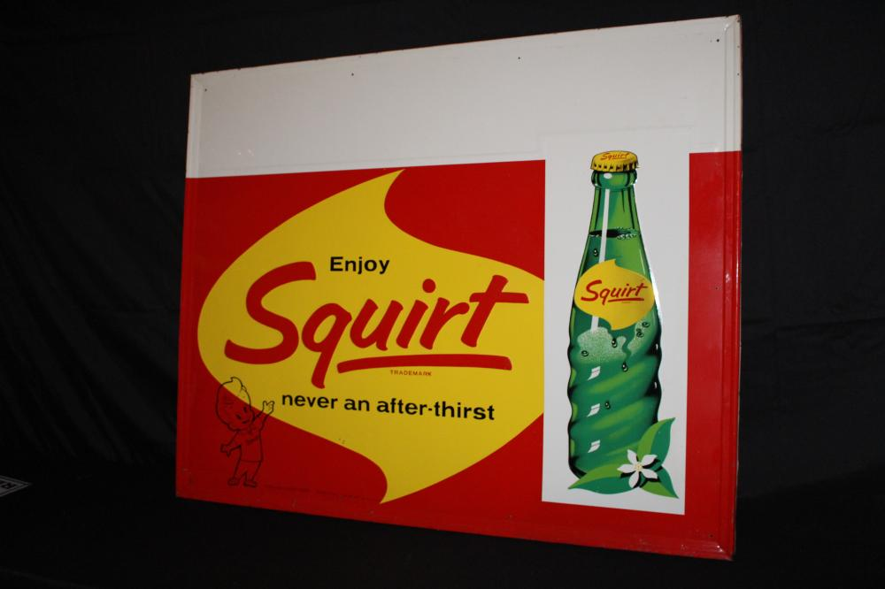 LARGE ENJOY SQUIRT SODA POP SIGN