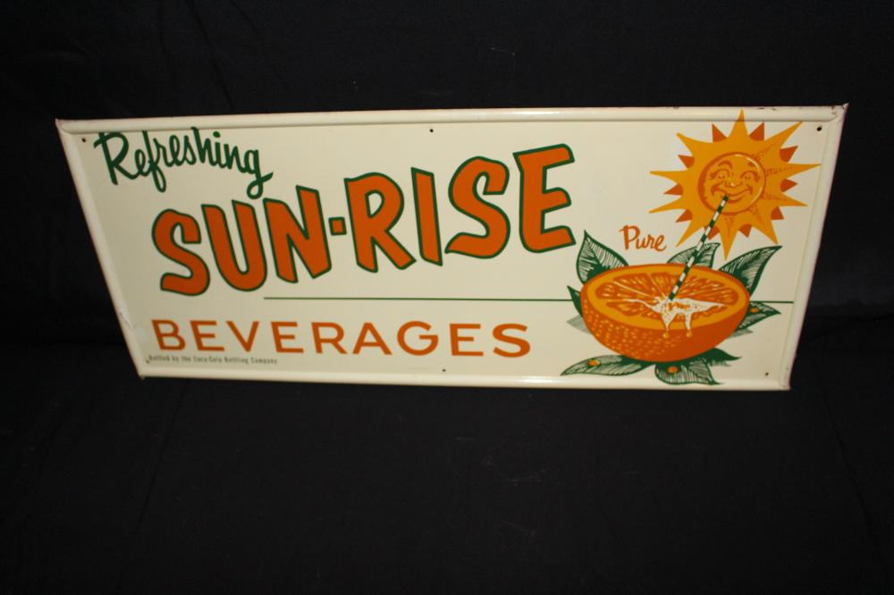 COCA COLA SUNRISE BEVERAGES SODA POP SIGN