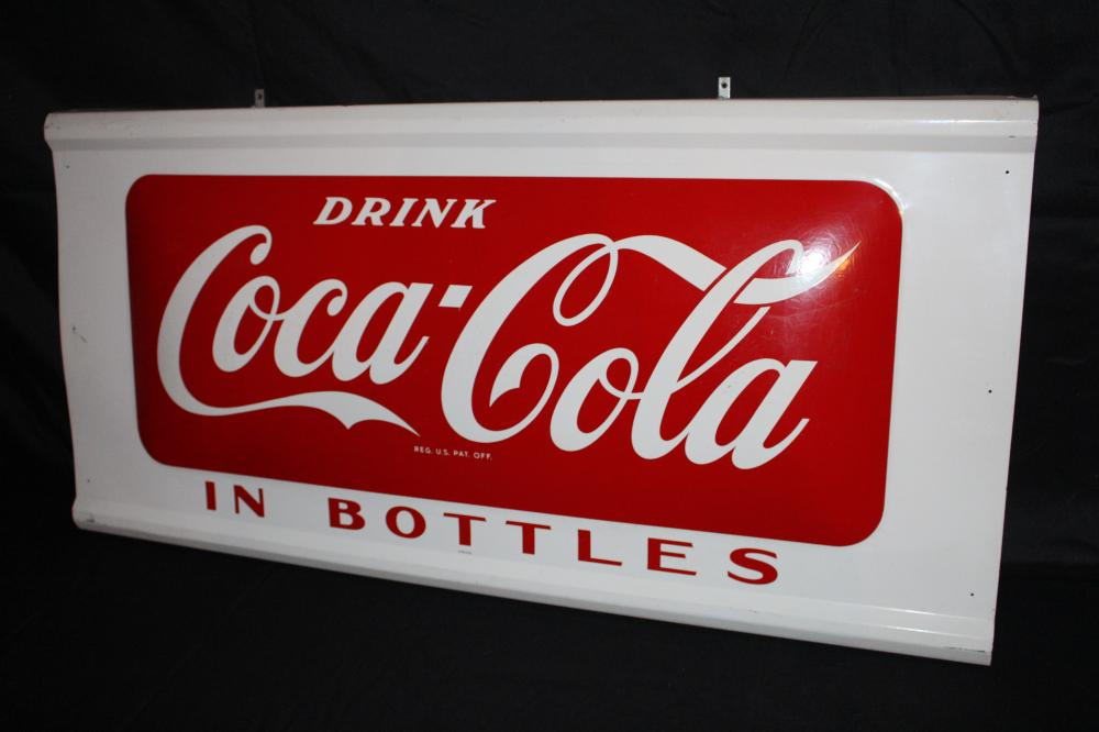 DRINK COCA COLA IN BOTTLES SIGN