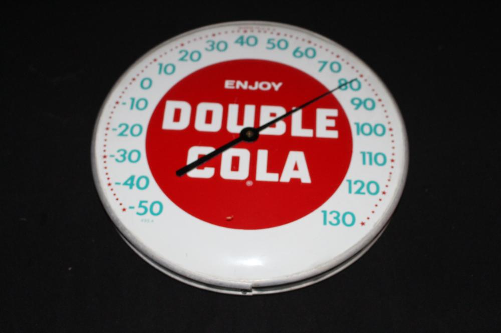 ENJOY DOUBLE COLA SODA POP THERMOMETER
