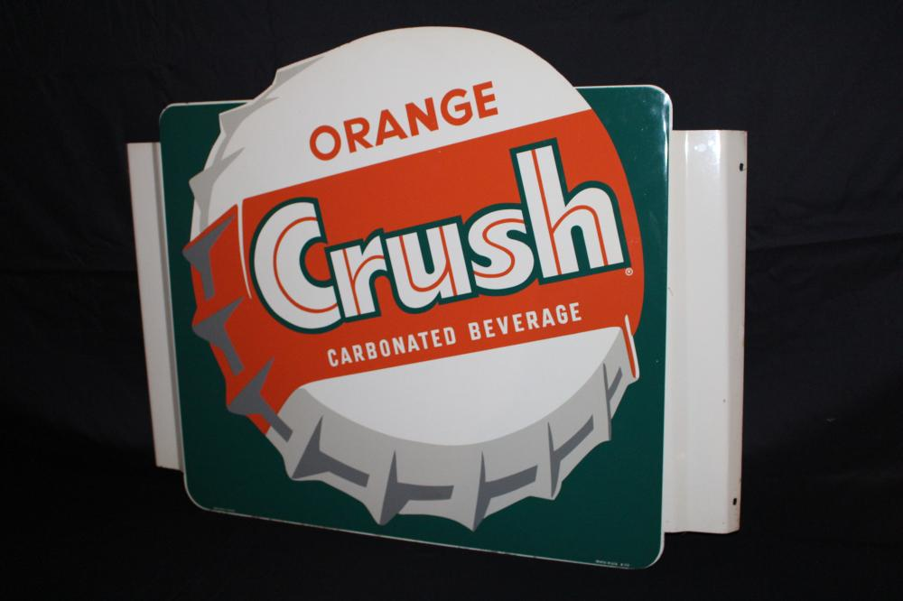 ORANGE CRUSH 3-D SODA POP BOTTLE CAP SIGN