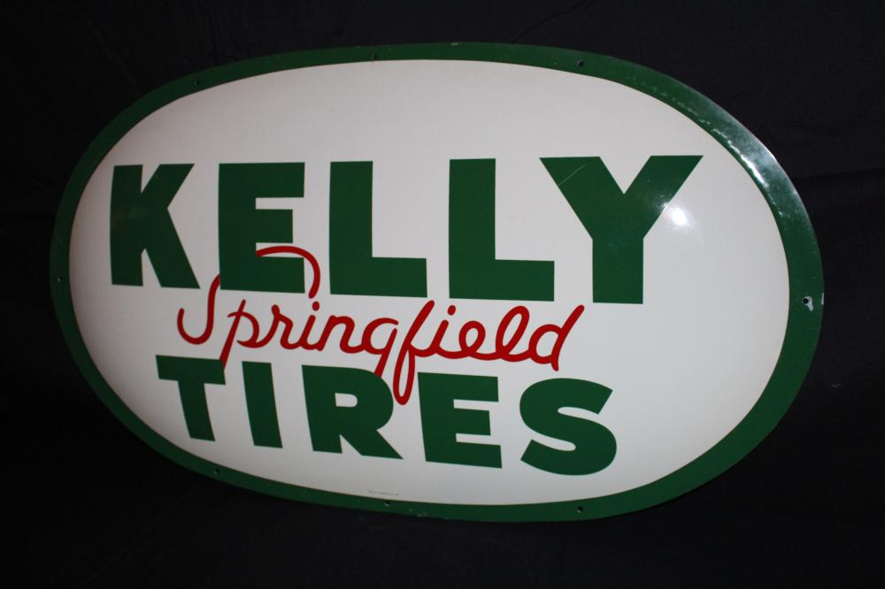 KELLY SPRINGFIELD TIRES CONVEX SIGN