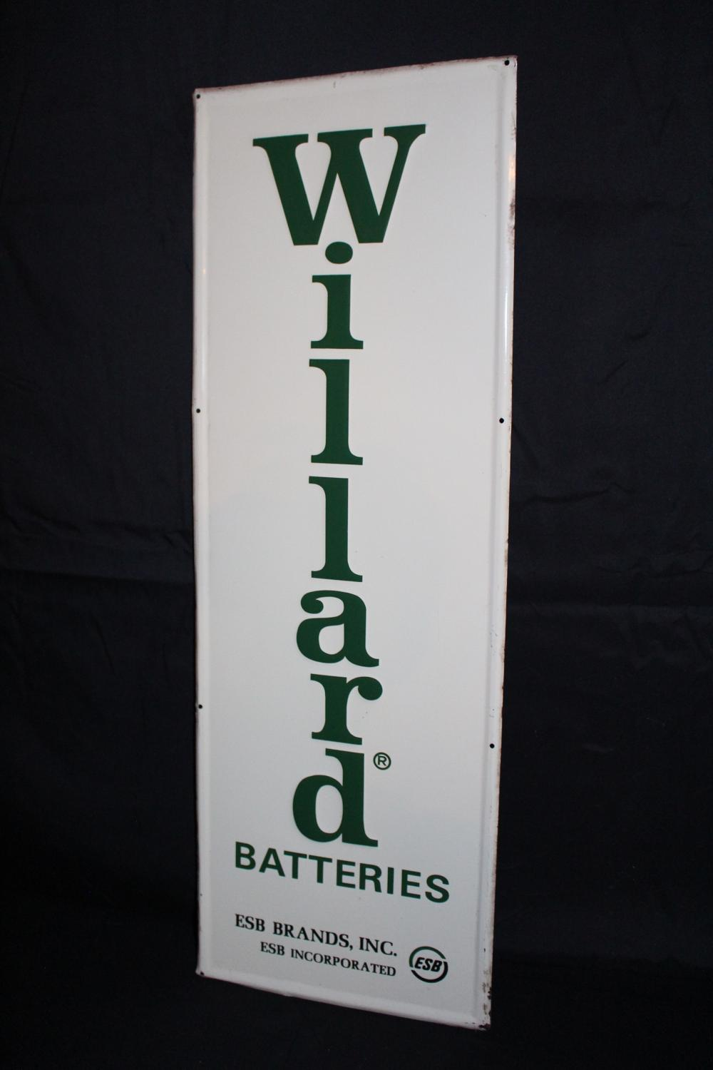 WILLARD BATTERIES SIGN