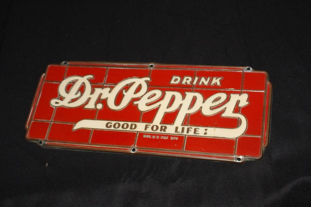 DRINK DR PEPPER SODA FOUNTAIN DISPENSER SIGN