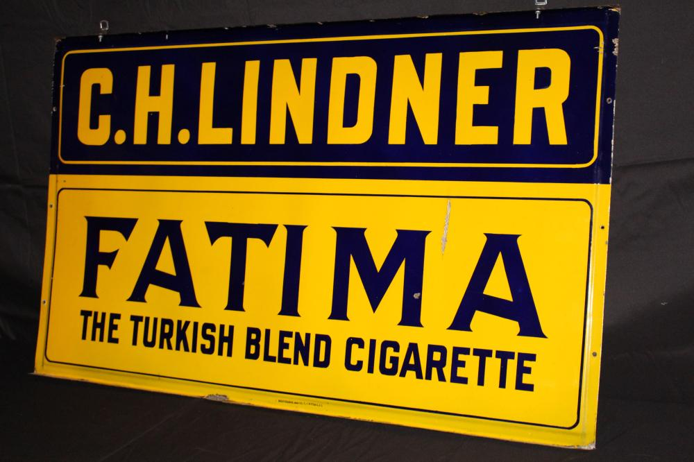 PORCELAIN FATIMA TURKISH CIGARETTES SIGN