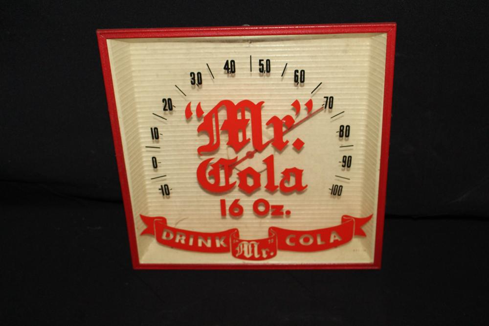 DRINK MR COLA SODA POP THERMOMETER SIGN