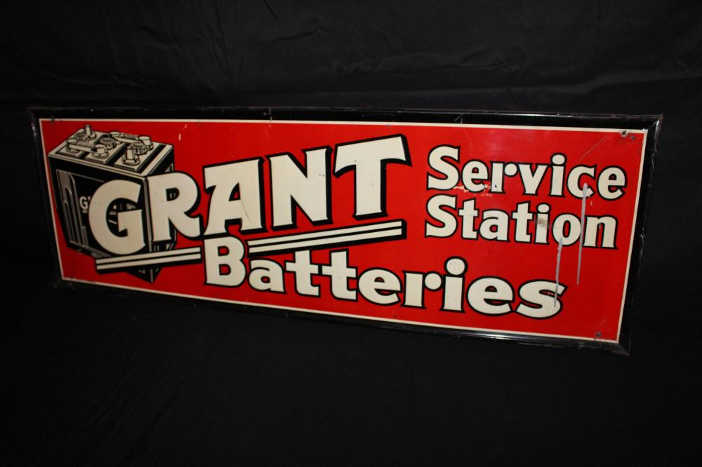 GRANT BATTERIES SERVICE STATION SIGN