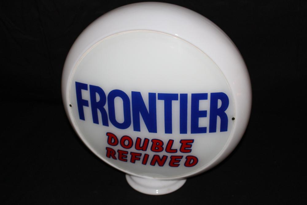 FRONTIER DOUBLE REFINED GASOLINE GAS PUMP GLOBE