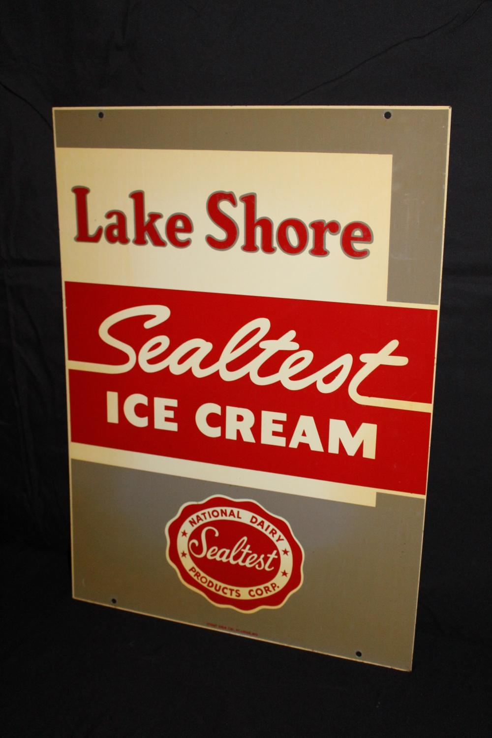 LAKE SHORE SEAL TEST ICE CREAM SIGN