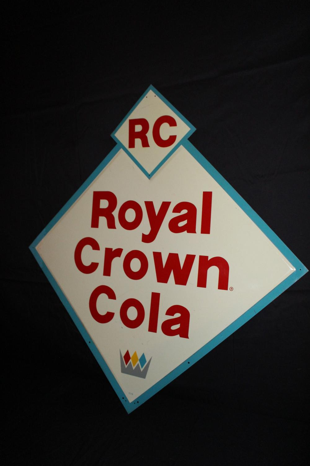 LARGE RC ROYAL CROWN COLA SIGN
