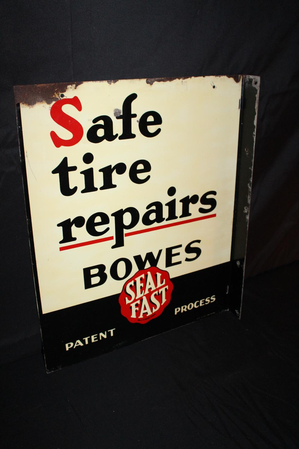 BOWES SEAL FAST TIRE REPAIR FLANGE SIGN