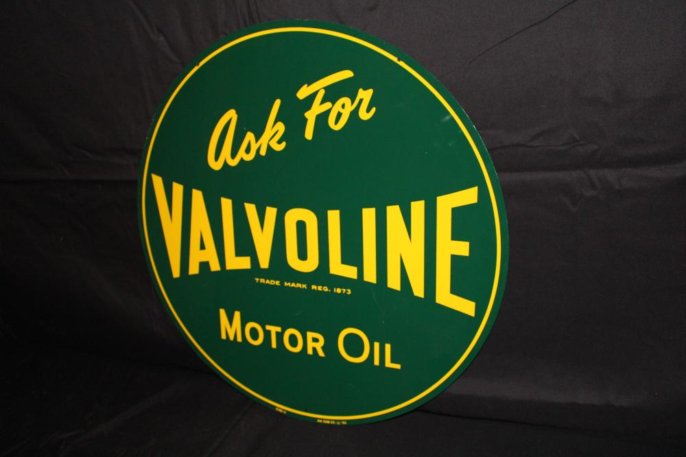 ASK FOR VALVOLINE MOTOR OIL SIGN