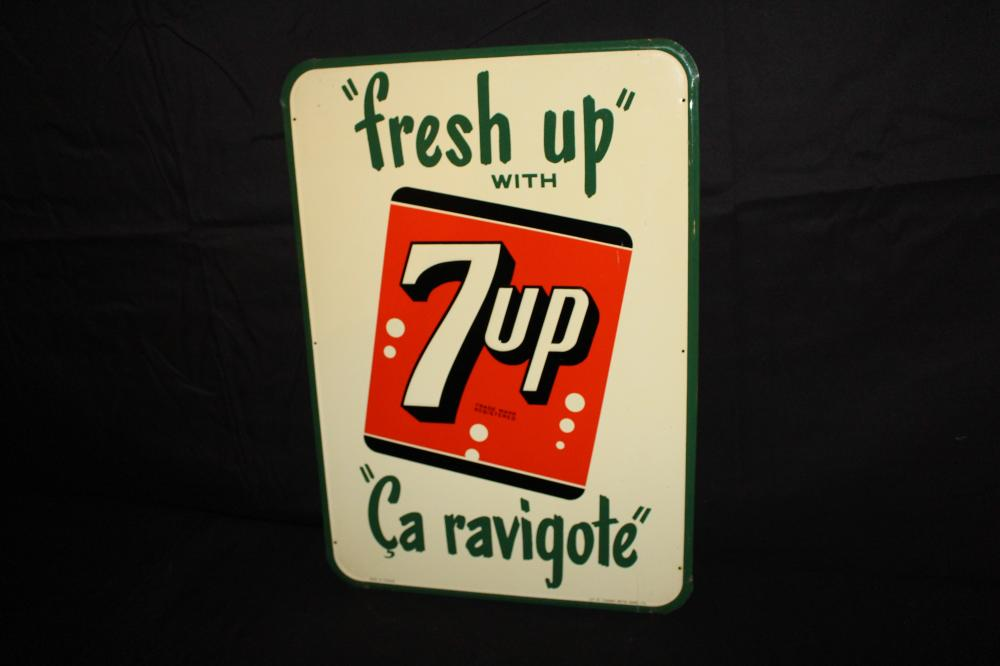 FRESH UP WITH 7 UP SEVEN UP SODA POP SIGN