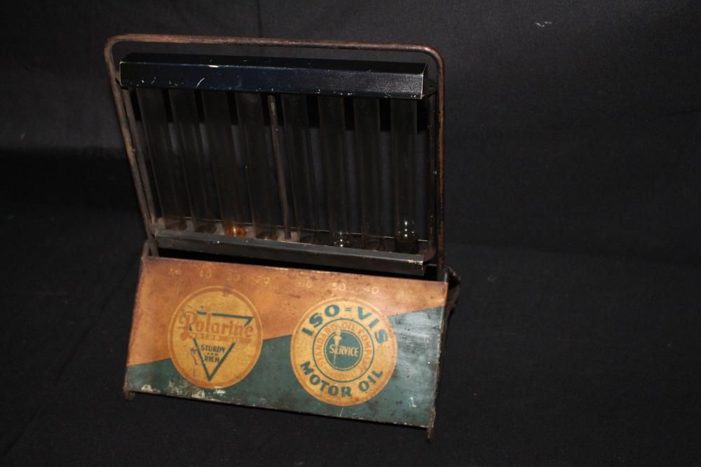 STANDARD OIL CO ISO VIS MOTOR OIL OIL DISPLAY SIGN