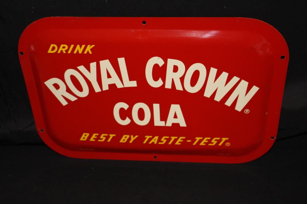 DRINK RC ROYAL CROWN COLA SODA POP SIGN