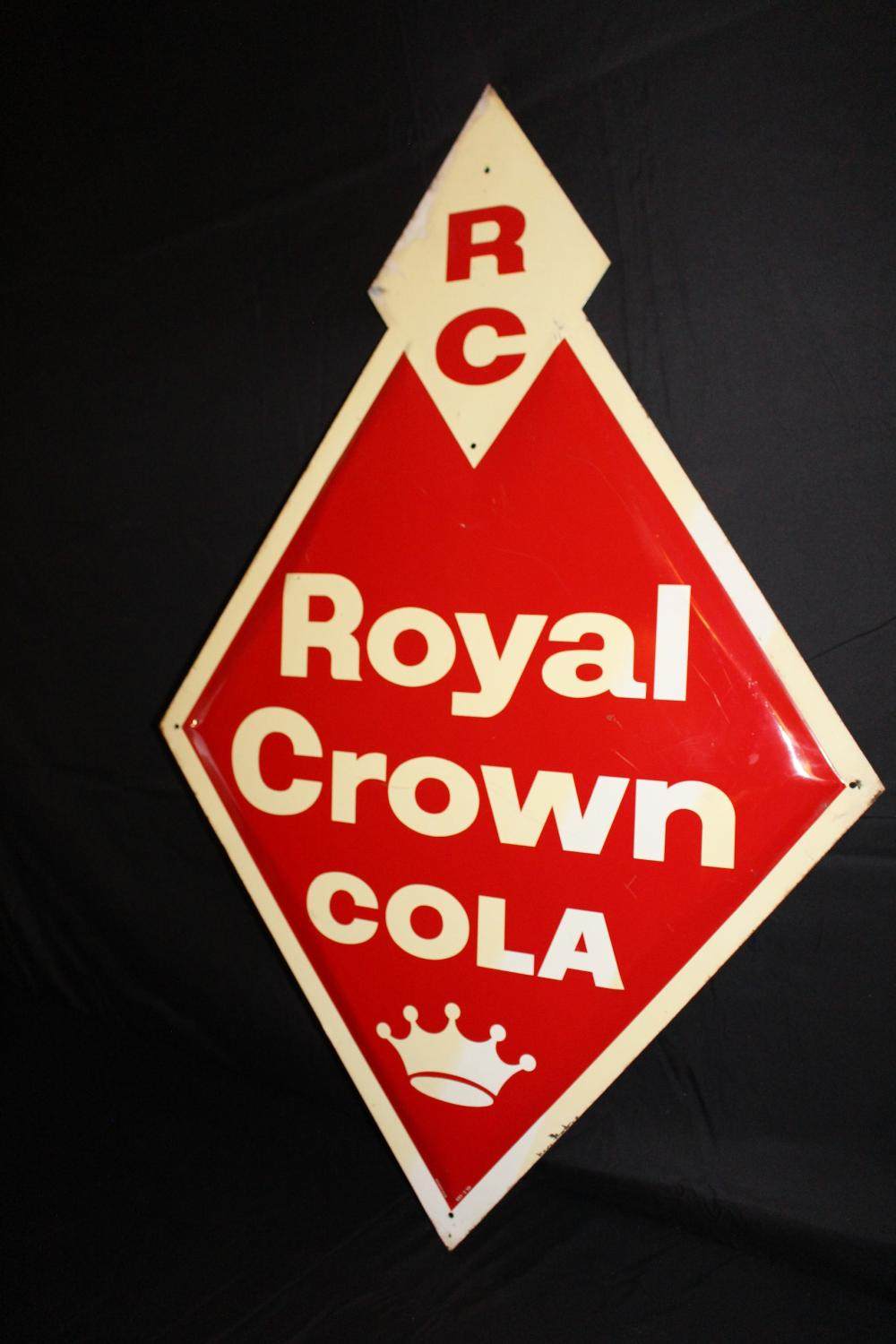 RC ROYAL CROWN COLA SODA POP SIGN