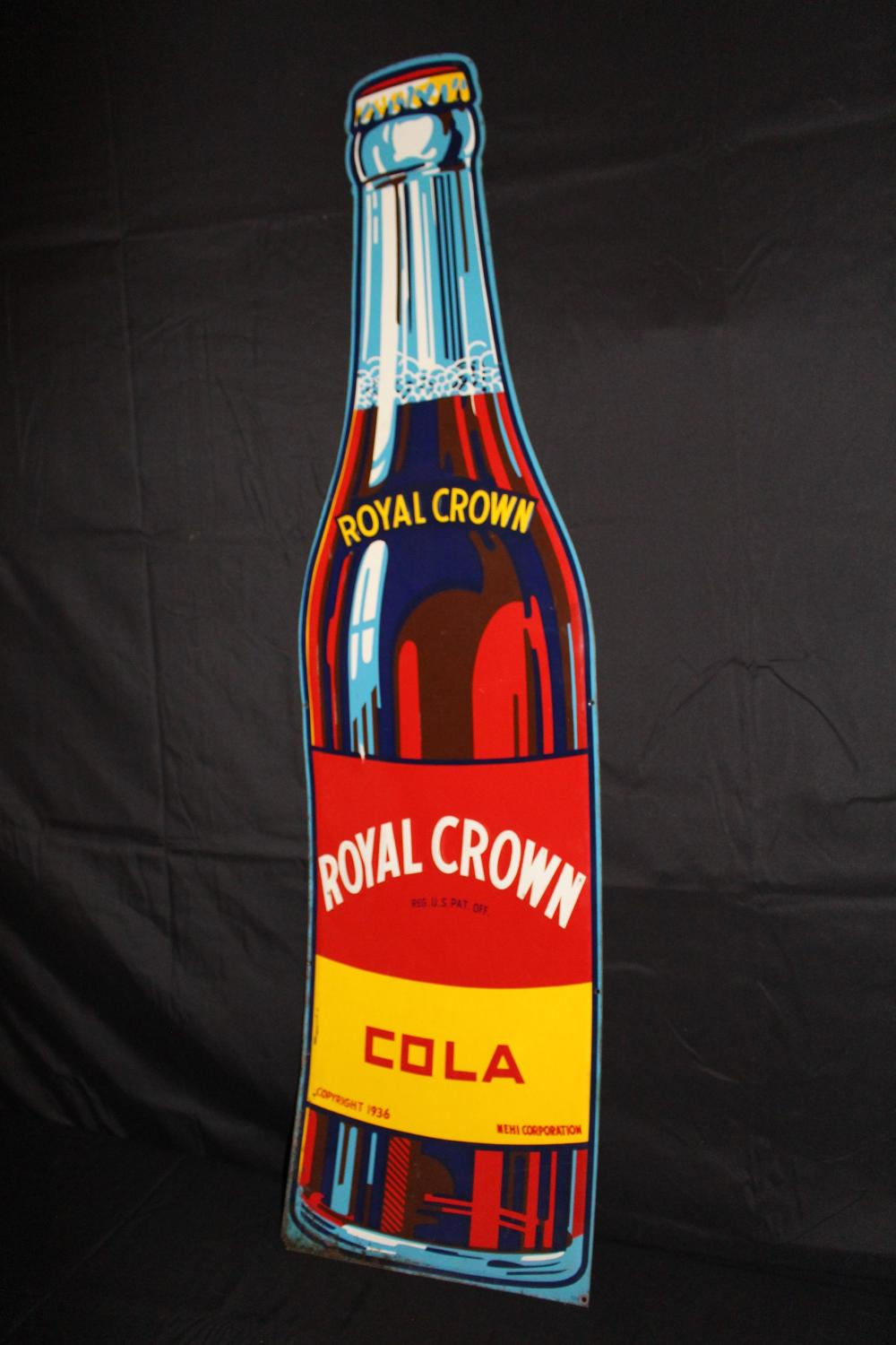 RC ROYAL CROWN COLA BOTTLE SIGN