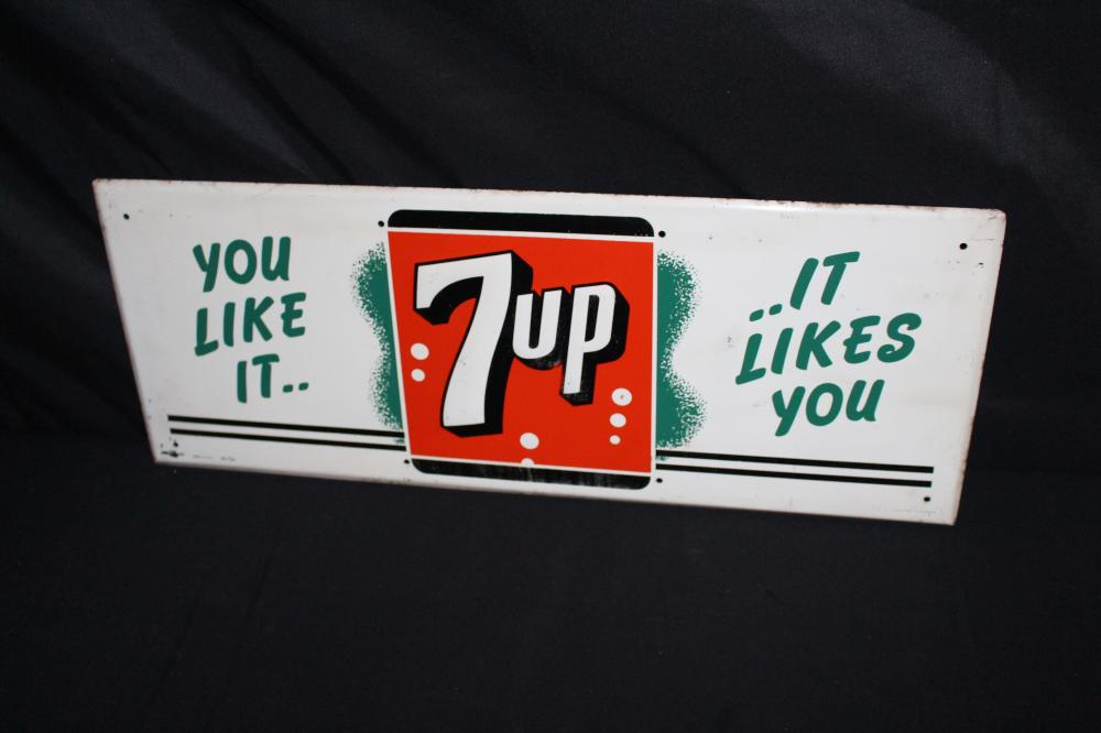 YOU LIKE IT LIKES YOU 7 UP SEVEN UP SODA POP SIGN