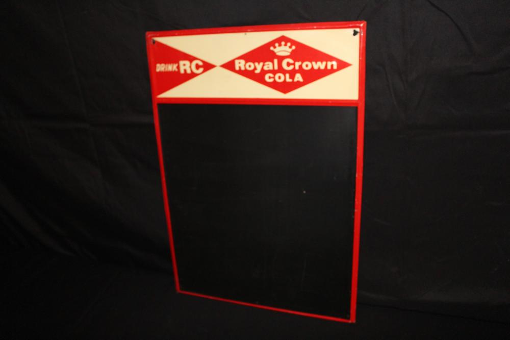 RC ROYAL CROWN COLA BLACKBOARD SIGN