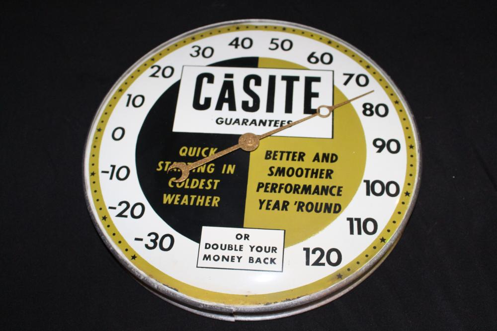 CASITE OIL ADDATIVE THERMOMETER SIGN
