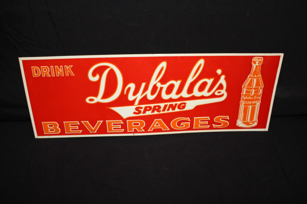 DRINK DYBALAS SPRING BEVERAGES SODA POP SIGN