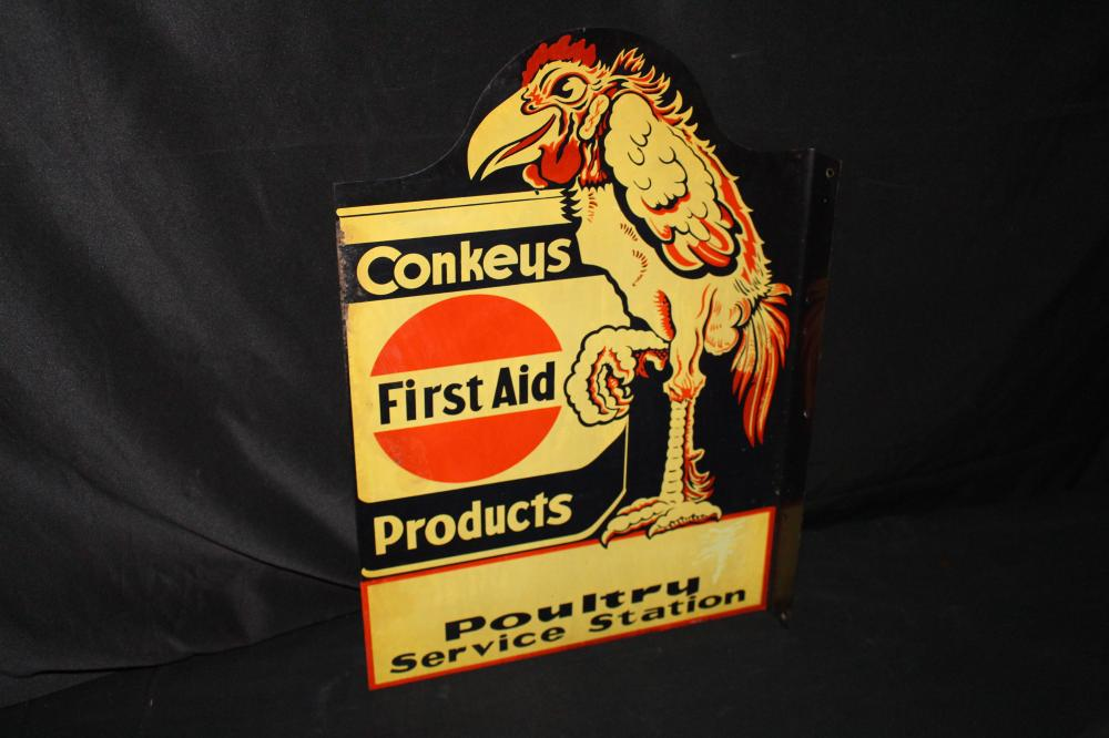 CONKEYS FIRST AID POULTRY SERVICE STATION SIGN