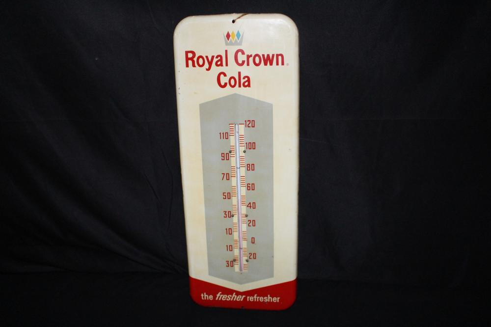 ROYAL CROWN COLA THERMOMETER TIN SIGN