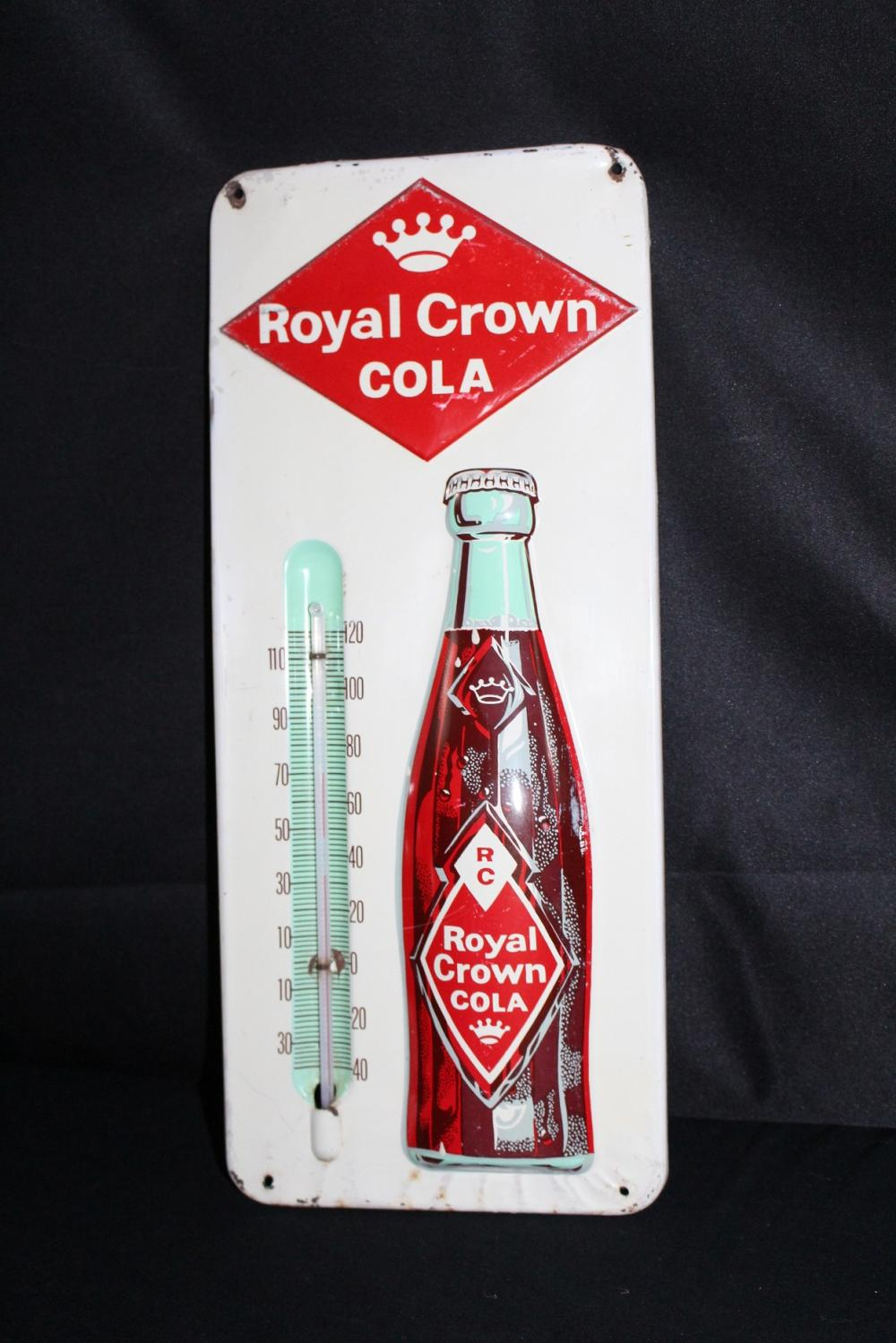 RC ROYAL CROWN COLA SODA POP THERMOMETER SIGN