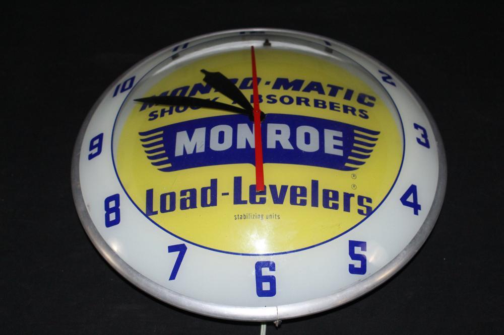 MONROE MATIC SHOCK ABSORBERS DOUBLE BUBBLE CLOCK