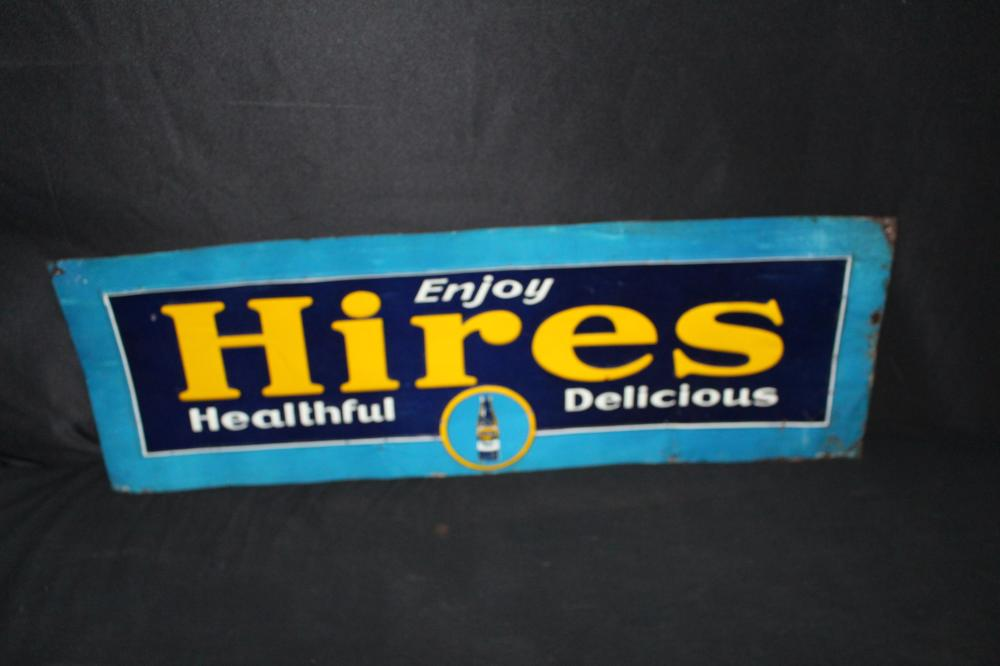 HIRES HEALTHFUL & DELICIOUS ROOT BEER TIN SIGN