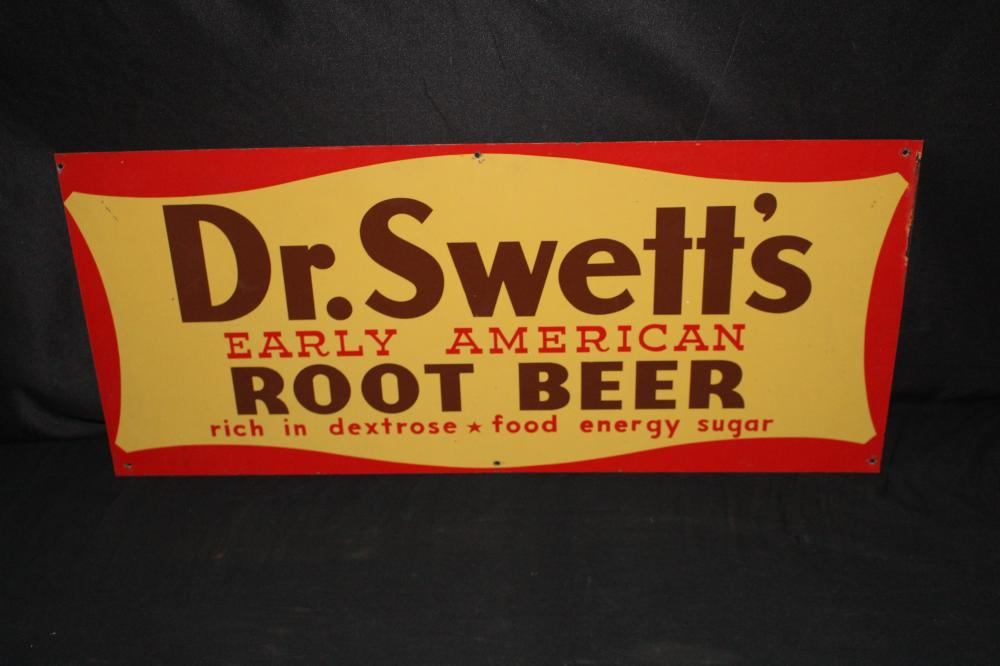 DR SWETTS ROOT BEER SODA POP TIN SIGN