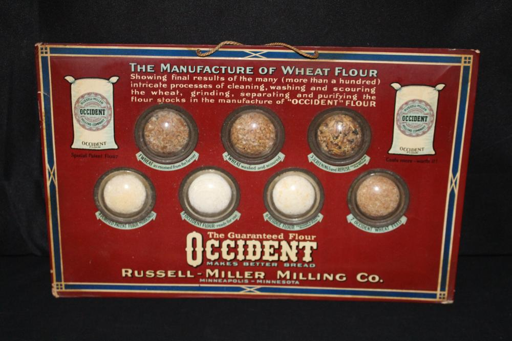 RUSSELL MILLER MILLING CO FLOUR SAMPLE SIGN
