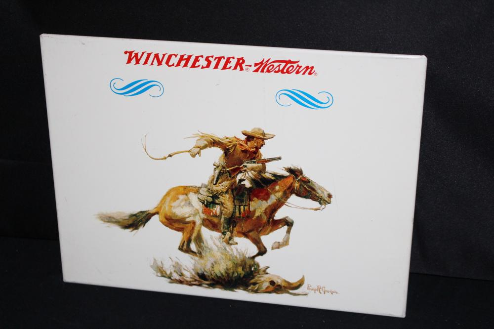 WINCHESTER WESTERN TIN SIGN