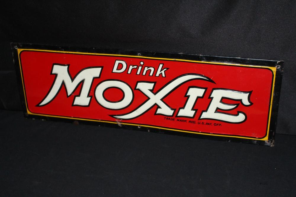 DRINK MOXIE SODA POP TIN SIGN