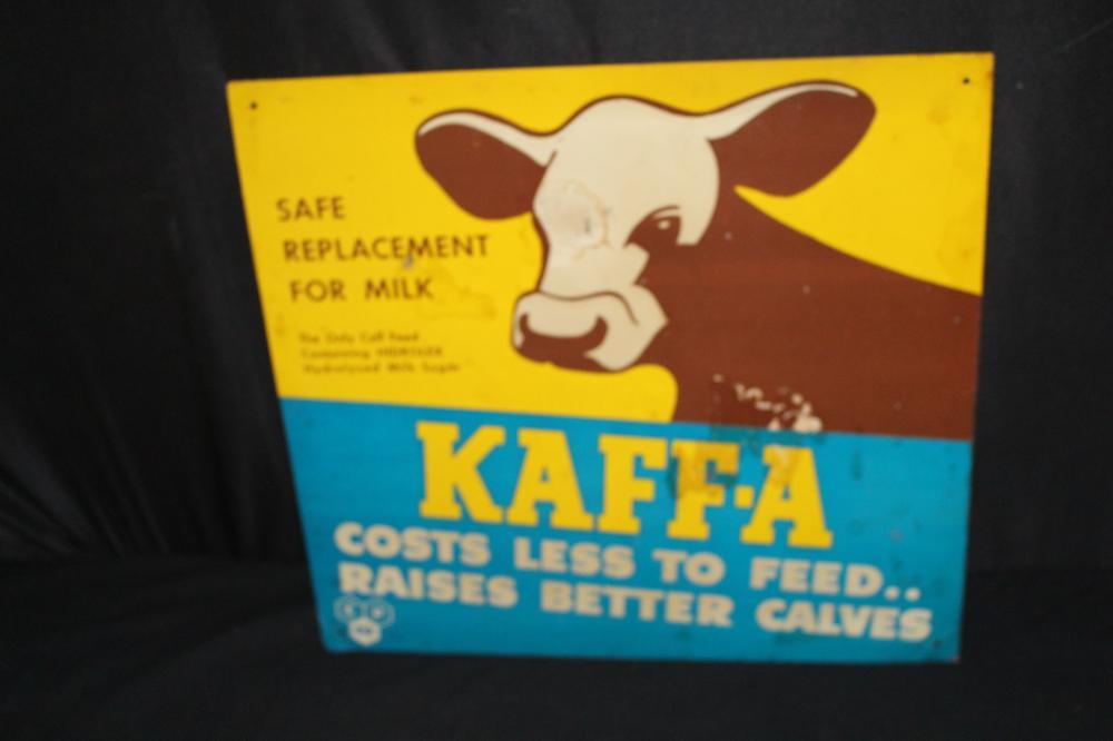 KAFFA MILK REPLACER TIN FARM SIGN