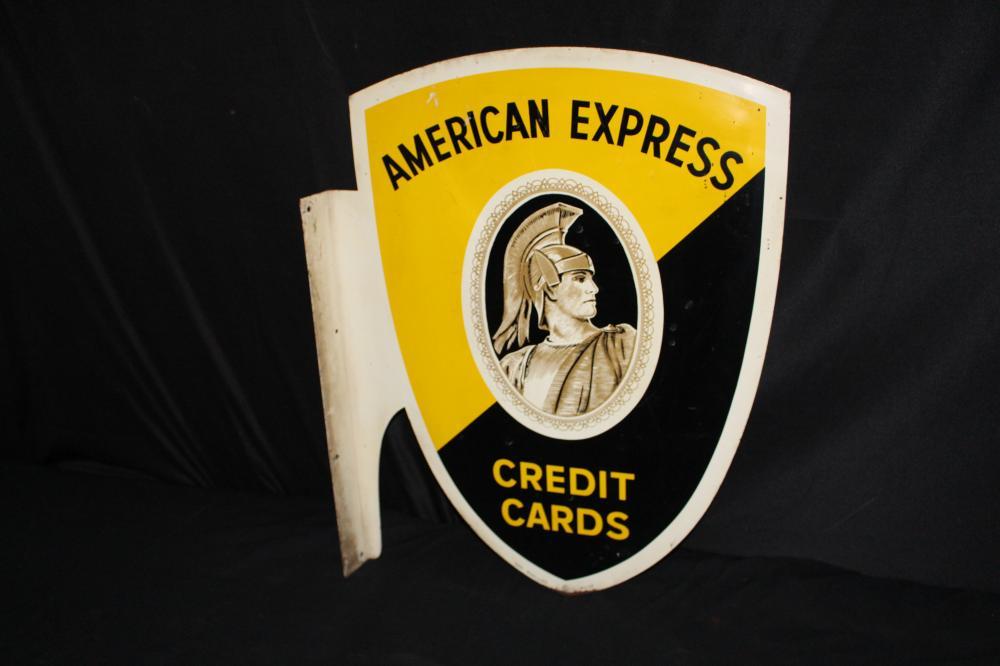 AMERICAN EXPRESS CREDIT CARDS FLANGE SIGN