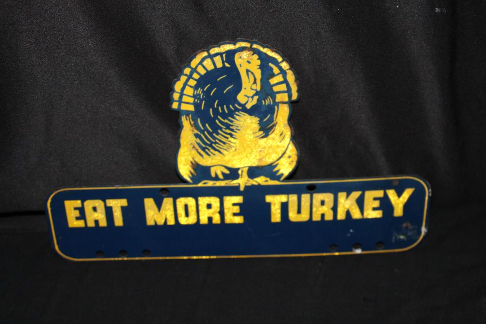 EAT MORE TURKEY LICENSE PLATE TOPPER