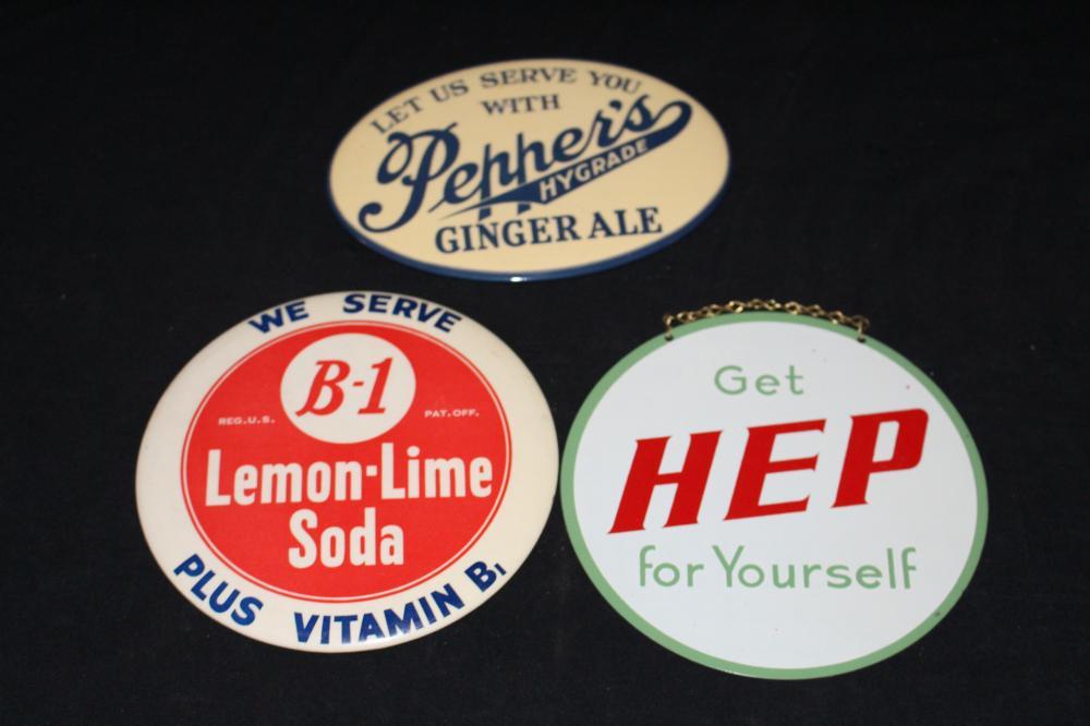 B-1  HEP & PEPPERS SODA POP SIGNS