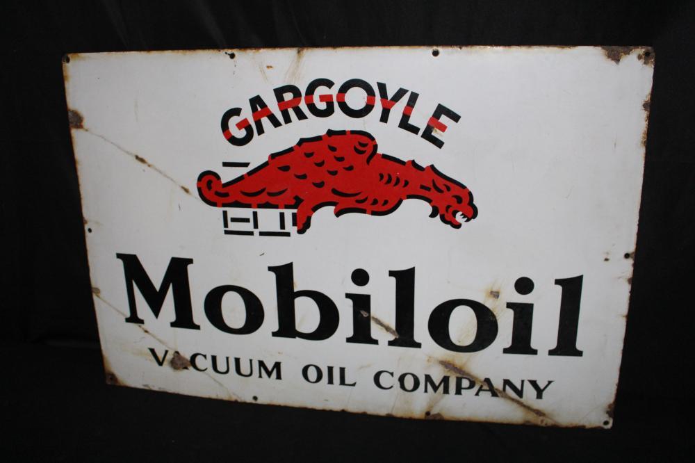 PORCELAIN MOBIL MOBILOIL GARGOYLE SIGN