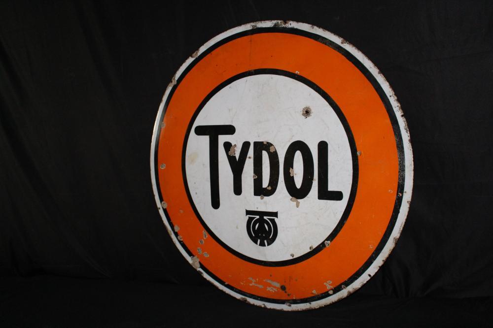 PORCELAIN TYDOL GASOLINE OIL SIGN