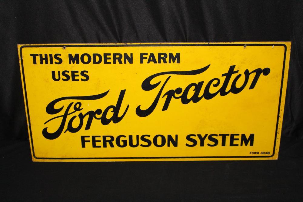 FORD TRACTOR FERGUSON SYSTEM MASONITE FARM SIGN