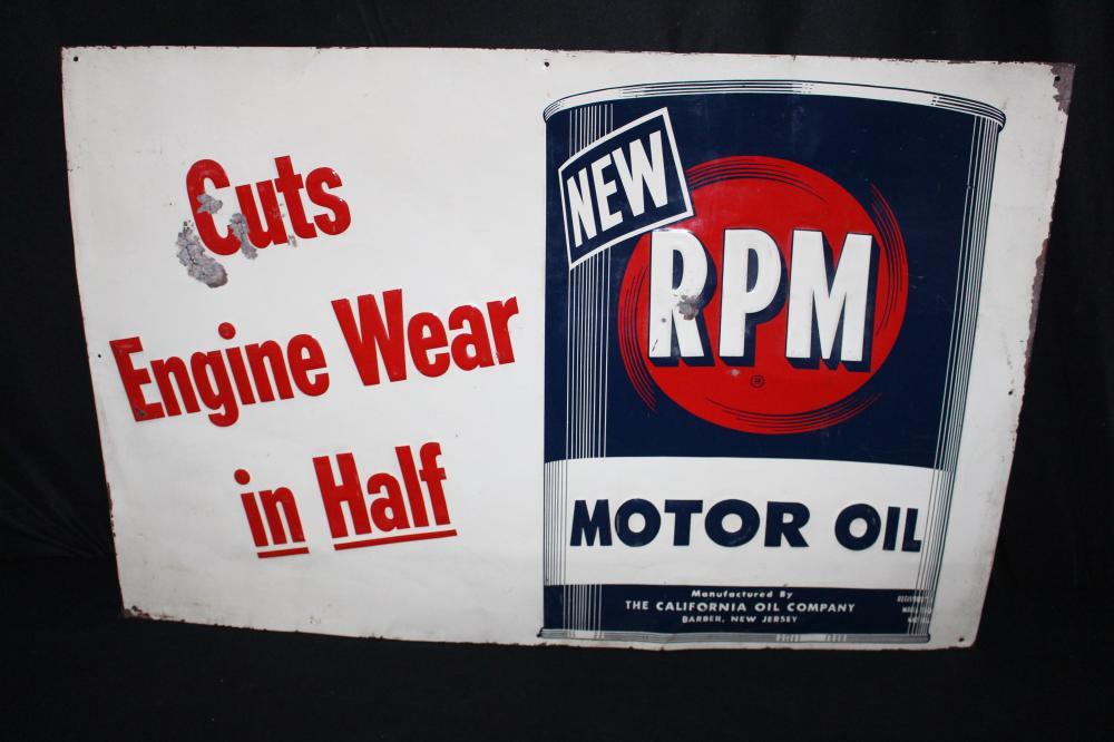 RPM MOTOR OIL TIN SIGN
