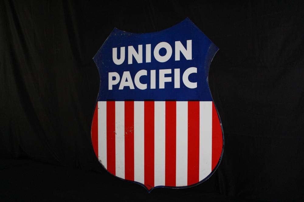 UNION PACIFIC RAILROAD HEAVY ALUMINUM SIGN