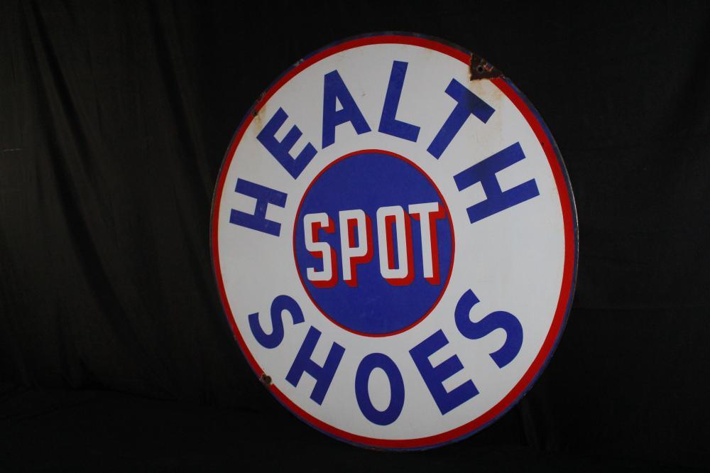 PORCELAIN HEALTH SPOT SHOES DEALER SIGN