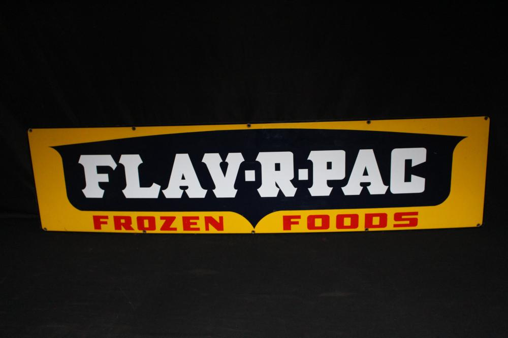 PORCELAIN FLAV R PACK  FROZEN FOODS SIGN