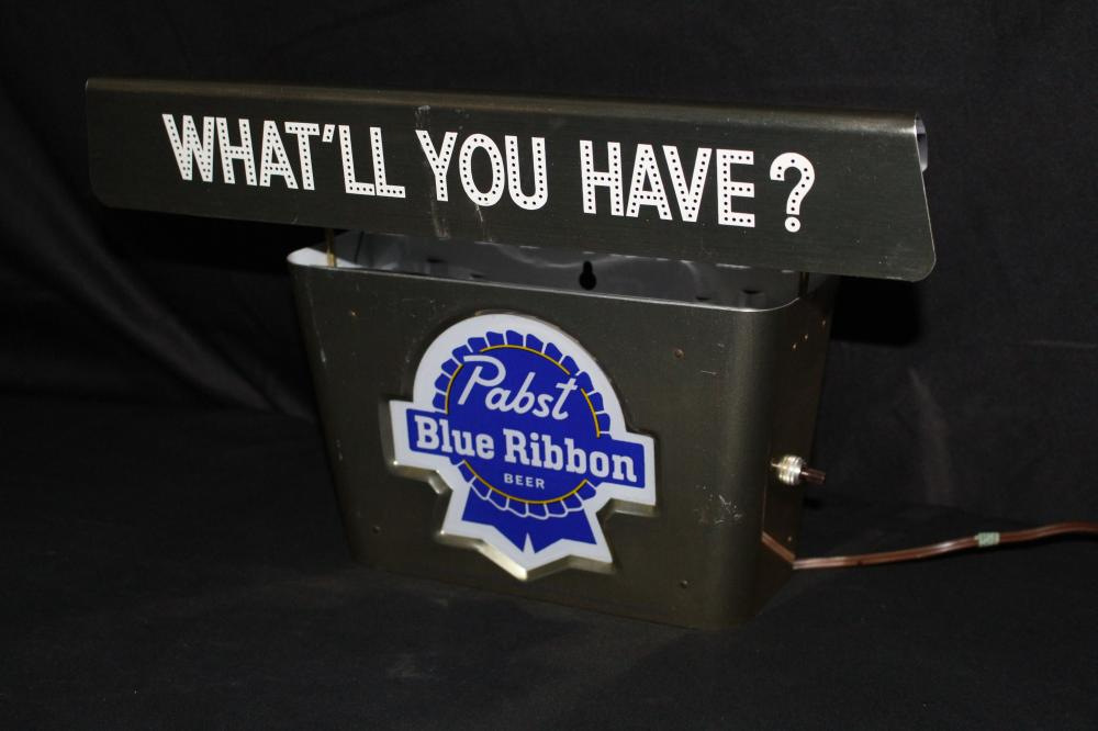 WHAT'LL YOU HAVE PABST BLUE RIBBON BEER SIGN