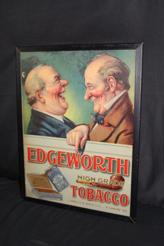 EDGEWORTH HIGH GRADE TOBACCO CARDBOARD SIGN